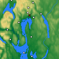 Nearby Forecast Locations - Oslo - Map