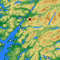 Nearby Forecast Locations - Ben Nevis - Map