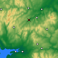 Nearby Forecast Locations - Hawick - Map