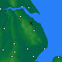 Nearby Forecast Locations - Grimsby - Map