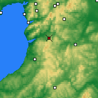 Nearby Forecast Locations - Machynlleth - Map
