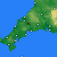 Nearby Forecast Locations - Bodmin - Map