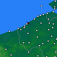Nearby Forecast Locations - Ostend - Map