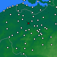 Nearby Forecast Locations - Ghent - Map
