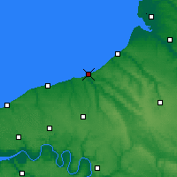 Nearby Forecast Locations - Dieppe - Map