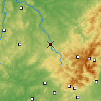Nearby Forecast Locations - Épinal - Map