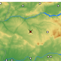 Nearby Forecast Locations - Cáceres - Map
