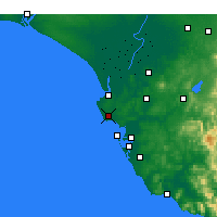 Nearby Forecast Locations - Rota - Map