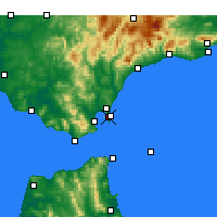 Nearby Forecast Locations - Gibraltar - Map