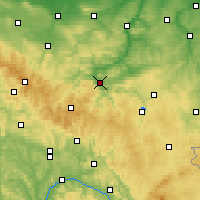 Nearby Forecast Locations - Saalfeld - Map