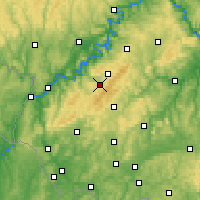 Nearby Forecast Locations - Hunsrück - Map