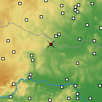 Nearby Forecast Locations - Hollabrunn - Map