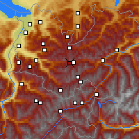Nearby Forecast Locations - Alpe-Rauz - Map