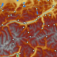 Nearby Forecast Locations - Patscherkofel - Map