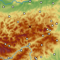 Nearby Forecast Locations - Mariazell - Map