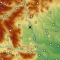 Nearby Forecast Locations - Graz - Map