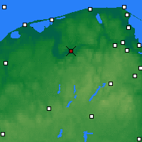 Nearby Forecast Locations - Lębork - Map