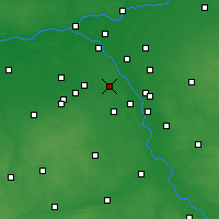 Nearby Forecast Locations - Warsaw - Map