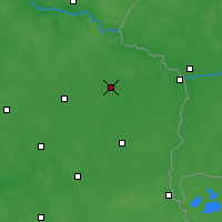 Nearby Forecast Locations - Biała Podlaska - Map