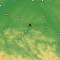 Nearby Forecast Locations - Rzeszów - Map