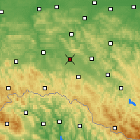 Nearby Forecast Locations - Krosno - Map