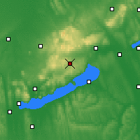 Nearby Forecast Locations - Veszprémfajsz - Map