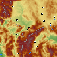 Nearby Forecast Locations - Prizren - Map