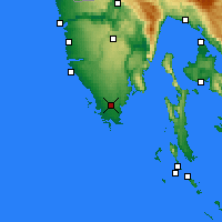 Nearby Forecast Locations - Pula - Map