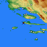 Nearby Forecast Locations - Hvar - Map