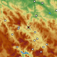 Nearby Forecast Locations - Zenica - Map