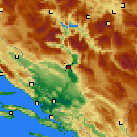 Nearby Forecast Locations - Mostar - Map