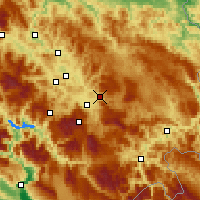 Nearby Forecast Locations - Sarajevo - Map