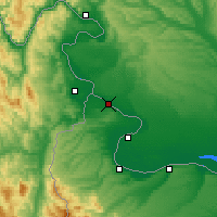 Nearby Forecast Locations - Novo Selo - Map