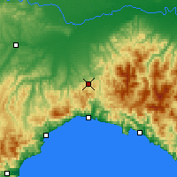 Nearby Forecast Locations - Giovi Pass - Map