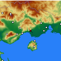 Nearby Forecast Locations - Kavala - Map