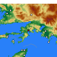 Nearby Forecast Locations - Marmaris - Map