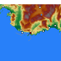 Nearby Forecast Locations - Kaş - Map