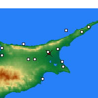 Nearby Forecast Locations - Lefkoniko - Map
