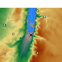 Nearby Forecast Locations - Ghor el Safi - Map