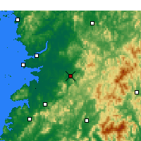 Nearby Forecast Locations - Jeonju - Map