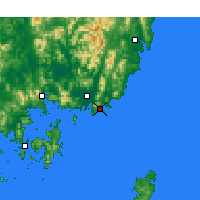 Nearby Forecast Locations - Busan - Map