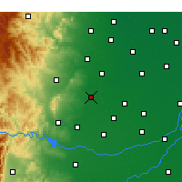 Nearby Forecast Locations - Handan - Map