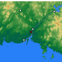 Nearby Forecast Locations - Dandong - Map