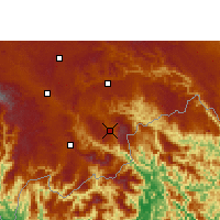 Nearby Forecast Locations - Malipo - Map