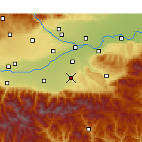 Nearby Forecast Locations - Chang'an - Map
