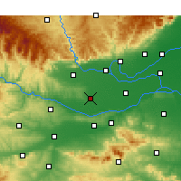 Nearby Forecast Locations - Mengzhou - Map