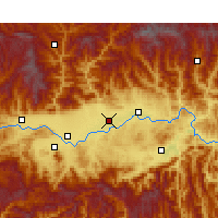 Nearby Forecast Locations - Chenggu - Map