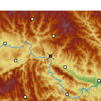 Nearby Forecast Locations - Shiquan - Map