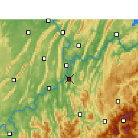 Nearby Forecast Locations - Ba Xian - Map