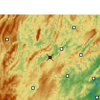 Nearby Forecast Locations - Huayuan - Map